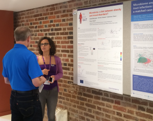 Dr Giulia Mancano with her poster